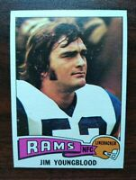 1975 TOPPS FOOTBALL #176 JIM YOUNGBLOOD Rams (SET BREAK) FREE SHIPPING