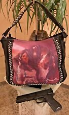 Montana West Horse Art Concealed Handgun Tote Laurie Prindle Purse Black
