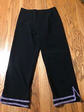 "Mim Belly Gypsy Dance Pants Black Small 23"" InSeam 25/26"" Waist"