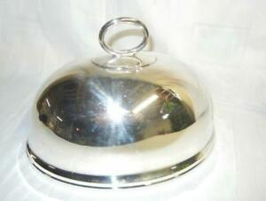 "BEAUTIFUL 10"" ANTIQUE ENGLISH HALLMARKED SILVERPLATE MEAT DOME"