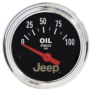 "Auto Meter 2-1/16"" Oil Pressure 0-100 PSI Air-Core Jeep #880240"