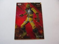 2018 Topps Star Wars Finest Red Refractor Base Parallel 105 Bossk 2/5