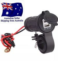 USB Charger Motorcycle Bar Mount Dual GPS Phone Quality Weatherproof AUS Seller