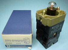 Telemecanique ZB2-BW073 Lighted Switch NO 500V 10A 2-Pole New OEM NIB