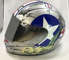 KBC VR FULLFACE MOTORCYCLE MOTORBIKE CRASH HELMET RACE RACING LID TOUR NEON YELLOW FLUORESCENT J/&S EXTRA SMALL XS 54 CMS