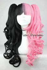 Lolita Pink Mix Black Long Curly Fashion Party Cosplay Wig Heat Resistant