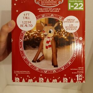 rudolph red nosed reindeer Airblown Inflatable 4 Ft Tall