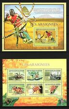 GUINEE 2009 LES ARAIGNEES SPIDERS INSECTS BUG FAUNA NATURE FOOTBALL STAMPS MNH**
