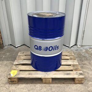 Q8 EMPTY METAL OIL BARREL DRUM 208L / 45 GALLON - BLUE/GREY