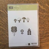 Stampin' Up! Funky Four Unmounted Rubber Stamp Set New Retired #120438