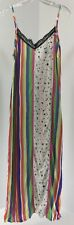 Reclaimed Vintage Womens Stripes & Stars Slip Dress White/Multi US:4/UK:8 NEW #