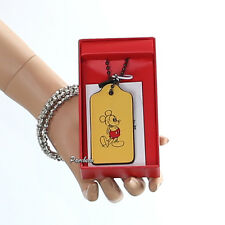 NWT Coach x Disney Mickey Mouse Yellow Leather Hangtag Key Fob Bag Charm & Box