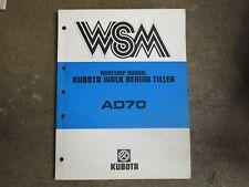 Kubota Ad70 Ad 70 Rotary Tiller Repair Amp Service Manual