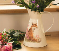 Wrendale Designs Tin Flower Jug Bumble Bee Fox Hare or Mouse Designs