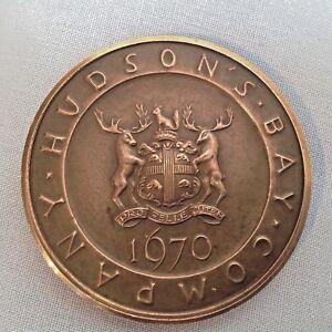 Vintage Cast Bronze Hudson's Bay Company Commemorative Medallion & numbered