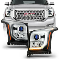 2015-2017 Gmc Yukon Xl Halogen [Oe Style] Led Drl Projector Headlights Headlamps (Fits: Gmc)
