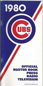 1980 CHICAGO CUBS MLB MEDIA GUIDE VINTAGE FREE SHIPPING