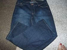 LADIES JEANS RIDERS BY LEE PREMIUM LADIES SIZE 12P DARK DENIM BLUE JEAN PANTS