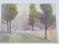 Vintage 1938 Watercolor Landscape by Paul G Janney Listed
