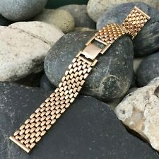 "1940s Premium 5/8"" 12k Gold-Filled Beads of Rice Gemex nos Vintage Watch Band"