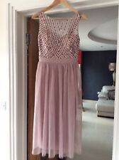 Little Mistress Mink Sequin Midi Dress size 12 BNWT