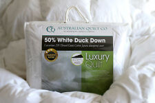 NEW Quilt White Duck Down 50% Queen Luxury Duvet/Doona 3 Blankets SB/DB/QB/KB