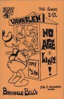 VAN HALEN 1975 BARNACLE BILL'S ORIGINAL DUARTE, CALIF. CLUB FLYER / HANDBILL