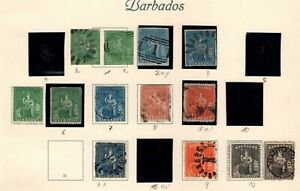Barbados QV collection of 72 stamps mainly Used