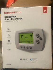 """Honeywell RTH6580WF  Wi-Fi Smart Thermostat with """"C"""" wire accessory - White"""