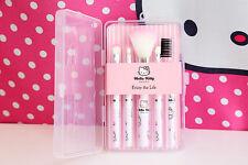 Hello Kitty Mini Cosmetic Makeup Brush 5 Pcs Set Kit Pouch Bag Case