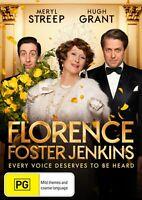 Florence Foster Jenkins DVD Meryl Streep, Hugh Grant 2016 - Region 4 Australia