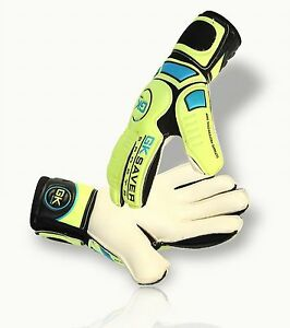 Goalkeeper Gloves Finger Save Football Goalie GK Saver Flat Cut Gloves Cool 02