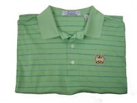 NEW Carnoustie Polo Golf SS Lime Green Luxury Performance Shirt Mens L Large PGA