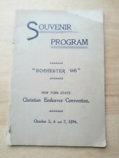Christian Endeavor Convention Rochester NY 1896 - Program/Guide - Church History