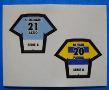 FIGURINA CALCIO MERLIN 2000 - STIK STAK - S. INZAGHI LAZIO/DI VAIO PARMA