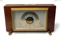 Vintage Airguide Barometer Temperature Humidity Desktop Weather Station Mahogony