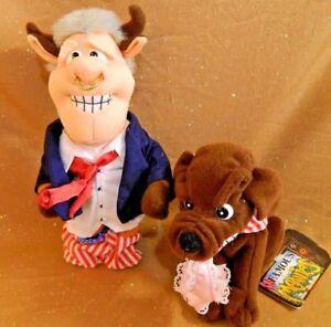 Bull Bill Clinton & Buddy The Dog INFAMOUS MEANIES plush set Monica Lewinsky