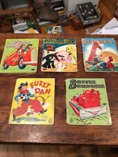 Lot 5 Vintage Childrens Books Whitman Fuzzy Wuzzy Tell-a-tale