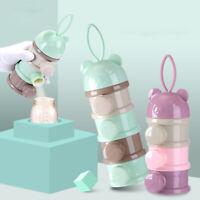 3/4 Grid Milk Powder Dispenser Container Storage Box Baby Food Storage Box