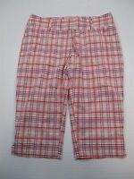 ADIDAS CLIMALITE SH4165 Women's Size 4 Light Weight Athletic Golf Capri Pants