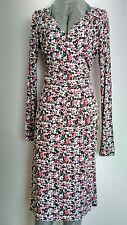 KEW by JIGSAW jersey dress size S --BRAND NEW-- knee length long sleeve floral