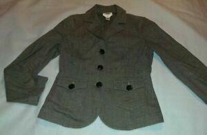 Womens Talbots Gray Suit Coat Blazer Size 4 Stretch