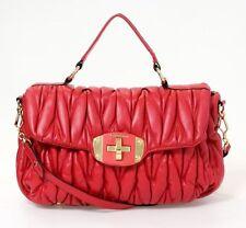 Authentic Miu Miu By Prada Red Large Messenger Handbag Bag Tote $2500