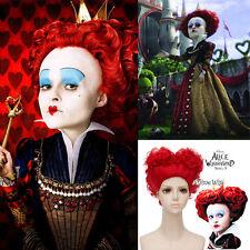 Alice in Wonderland 2 Cosplay The Queen of Hearts Wig Kostüm Perücke Rote 30cm
