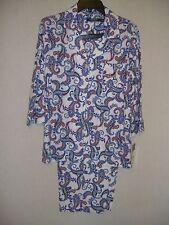 RALPH LAUREN BLUE White RED Paisley Print Cotton PJ's Pajamas - M  - NWT $69