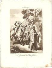 Stampa antica SAN GIOVANNI da SAN FACONDO Spagna Bigioli 1839 Old Antique print