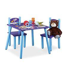 Blu 59x59x53.5 cm Relaxdays Funny Set Mobili per Bambini legno 59 x 59 (h8i)
