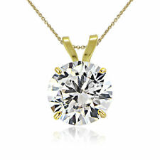 Cubic Zirconia Yellow Gold Fine Necklaces & Pendants