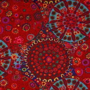 Free Spirit Kaffe Fassett Millefiore GP92.Red Contemporary Cotton Fabric BTY