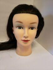 Wimex Beauty Brown Natural Hair Mannequin Head Display Hats Makeup Manikin